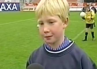 A very young De Bruyne reveals his favourite team and player