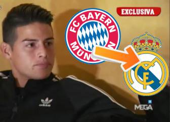 James asked if he will return to Real Madrid when his loan ends