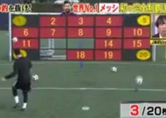 Messi aces hectic shot-accuracy challenge on Japanese TV