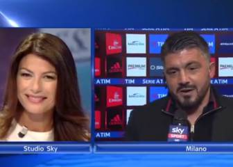 Gattuso tells Buffon's wife to give him a snog from him on live TV