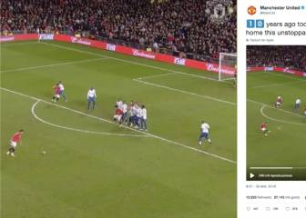 Manchester United mark 10 years since iconic Ronaldo free-kick