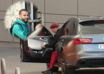 Carvajal sniggers as Ramos rolls up rocking new red look
