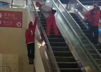 Freestyle escalator riding