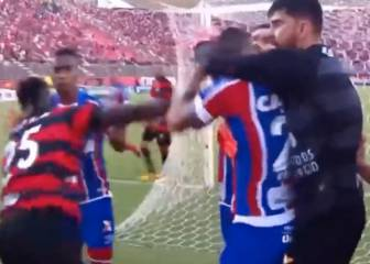 Mayhem in Brazil as referee sends off 9 and suspends game