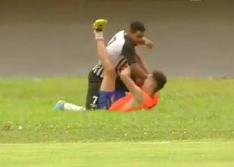 Horrific scenes in Brazil as Operario player beats up ball-boy