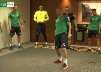 Real Betis players have surreal dance-off training session