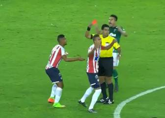 Kung fu red card in Copa Libertadores