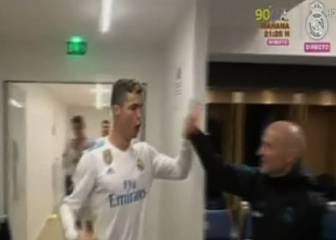 Real Madrid celebrations: from tunnel into the changing room