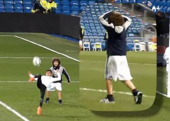 Cristiano Jr impresses Marcelo's son Enzo with this Bernabéu strike