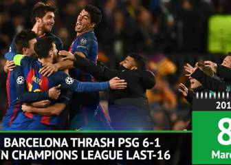 On This Day - Barca thrash PSG 6-1 in Champions League