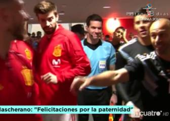 Ramos, Mascherano and Piqué share a joke in the tunnel
