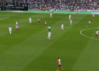 La pasiva marca de Real Madrid en el gol de Iñaki Williams
