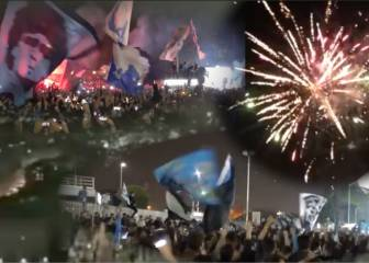 Naples erupts after goal in Turin and greets players as heroes