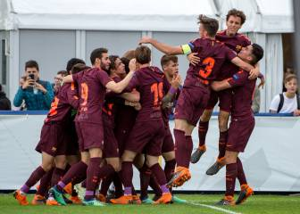 El Barcelona gana la Youth League con un doblete de Marqués