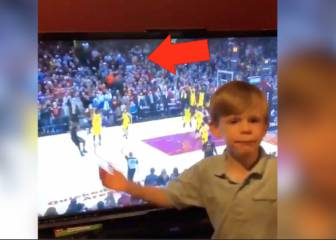 Young NBA fan calls LeBron James' match-winning three-pointer