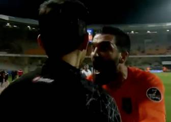 Angry Arda sent off for pushing assistant referee