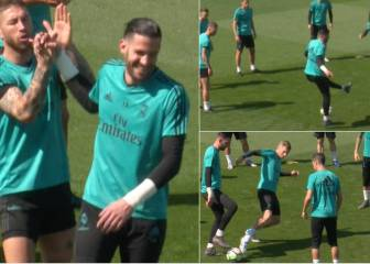 Casilla makes mug of Kroos in Real Madrid training