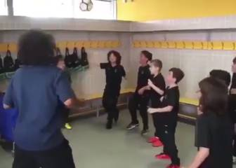 Marcelo takes up header challenge with son's team