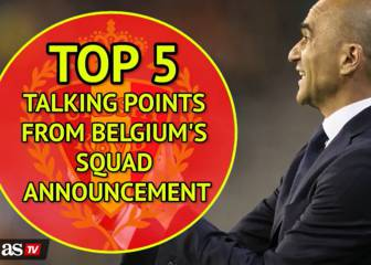 Five talking points from Belgium's squad announcement