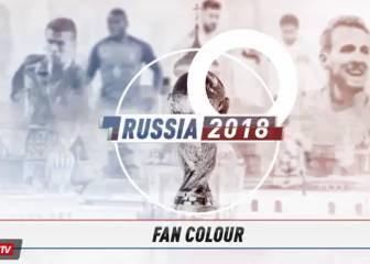 Fans prepare in Moscow's Red Square for Russia 2018 start