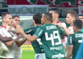 Six players sent off after Palmeiras-Flamengo brawl