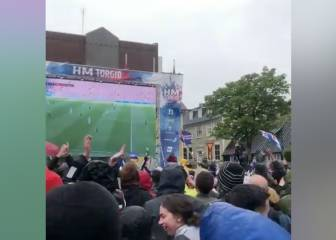 Iceland fans erupt with joy as Messi spurns penalty chance