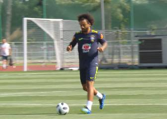 Marcelo back in Brazil training ahead of Mexico showdown