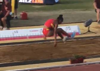 Spanish triple-jumper breaks Euro record with final attempt