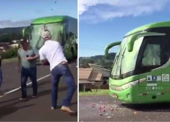 Brazil team bus pelted with eggs on arrival home from Russia