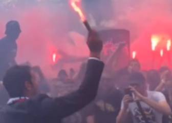 'No pyro no party' as Buffon lights flares with PSG ultras