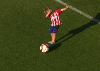 Gameiro's kids steal the show as Atlético return to training