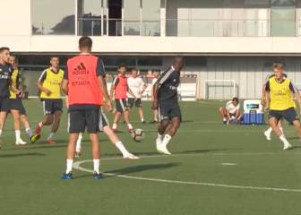 Vinicius shows off some silky skills in Real Madrid training