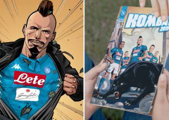 Napoli superheroes take shirt presentation to another level