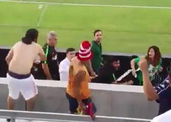Ugly scenes as Higuita reacts to fan's abuse with punch