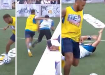 Neymar's reaction to freestyler tackle didn't go down well