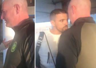 Ex-Rangers player Nacho Novo confronts abusive Celtic fan at airport