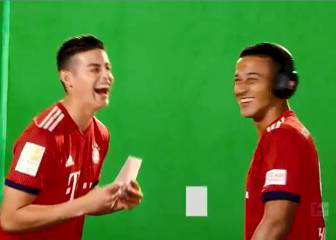 James y su divertido error en el media day del Bayern Múnich