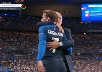 Para él, sí es 'The Best': la efusiva reacción de Deschamps al cambiar a Griezmann