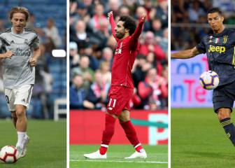 Modric, Salah y CR7, los tres candidatos al Premio 'The Best'