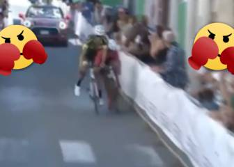 Wrestling or cycling? This sprint is beyond brutal